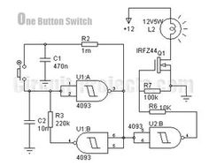 One Button On-Off Switch with 4093 and IRFZ44