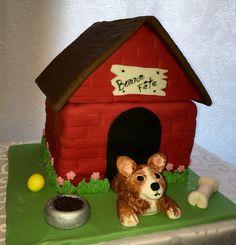 House Cake, Unique Cakes, Gingerbread, Bird, Outdoor Decor, Dog, Drinks, Home Decor, Diy Dog