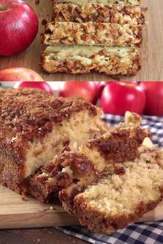 Apple Banana Bread, Apple Cinnamon Bread, Cinnamon Apples, Apple Cake Recipes, Banana Bread Recipes, Baking Recipes, Apple Fritter Recipes, Fruit Bread, Dessert Bread