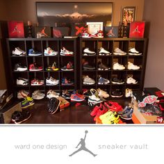 sneakerhead closet, jordan shoe closet, sneaker collect, sneaker closet, sneaker room