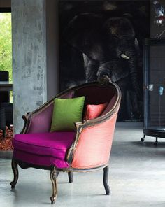 Neon colors/french style chair