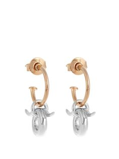 Mini Horn silver and gold-plated earrings | Charlotte Chesnais