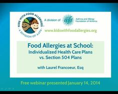 School 504 Plans and Individualized Health Care Plans | Kids With Food Allergies