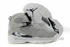 93e64fcb8aa Basket Air Jordan 8 Enfant Pas Cher Gris 8133