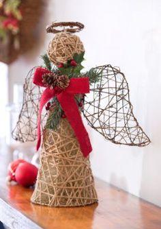 Home Accents® Natural Noel Large Jute Decor Angel Christmas Angels, Christmas 2017, Christmas Crafts, Christmas Ornaments, Patriotic Crafts, July Crafts, Birthday Decorations, Christmas Tree Decorations, Holiday Decor