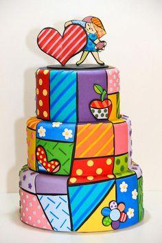 Cake Icing, Fondant Cakes, Cupcake Cakes, Patchwork Cake, Doodle Cake, Spa Cake, Cake Designs For Kids, Funny Cake, 40th Birthday Cakes