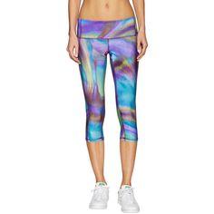 Fifth City Capri Leggings ($48) ❤ liked on Polyvore featuring pants, leggings, multi, print pants, elastic waist pants, print leggings, print capri leggings and leggings pants