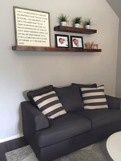Wood Floating Shelves, Primitive Shelf, Floating Shelf. Living Room ...