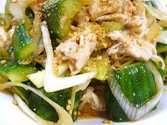 やみつき☆豚しゃぶと叩き胡瓜の中華サラダの画像