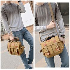 Men Canvas Outdoor Messenger Bag Crossbody Bag Travel Bag #men #canvas #bags #fashion #discount #want #love #off #latest #amazing