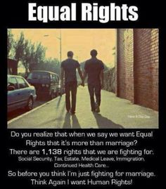 Marriage equality is about equal rights and civil rights for all human beings, it's not just about gay rights and gay people Marriage Rights, Lgbt Rights, Equal Rights, Human Rights, Civil Rights, Marriage License, Paraiba, Same Love, Gay Couple