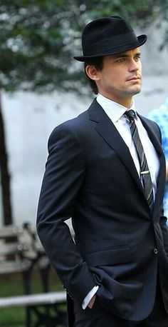 "Matt Bomer as the brilliant Neal Caffrey in ""White Collar."""