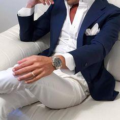 Blue Blazer Outfit Men, Blazer Outfits Men, Mens Fashion Blazer, Suit Fashion, Orange Blazer, Brown Blazer, Fashion Edgy, Classic Fashion, Bohemian Fashion