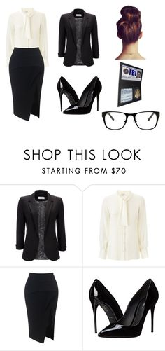 """""""FBI"""" by ivanna-g ❤ liked on Polyvore featuring Wallis, Yves Saint Laurent, Maticevski, Dolce&Gabbana and GlassesUSA"""