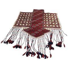 Vintage Turkish Anatolian Kilim Rug - 4′3″ × 6′ (870 CAD) ❤ liked on Polyvore featuring home, rugs, traditional handmade rugs, kelim rug, hand crafted rugs, kilim area rugs, hand made rugs and anatolian kilim rug