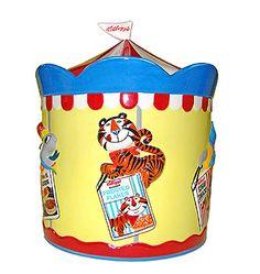 Vintage Kellogg's Carousel cookie jar