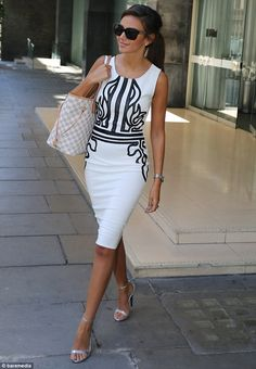 Michelle Keegan looks super glossy as she wears fitted frock from her own collection | Mail Online