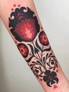 Pattern Tattoos 27808 Folk art pattern tattoo by Winston the Whale - Top 10 Cities to Get Tattooed In Time Tattoos, Sexy Tattoos, Tattoo You, Body Art Tattoos, Tattoo Drawings, Sleeve Tattoos, Tattoos For Women, Cool Tattoos, Tattoo Lyrics