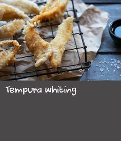 Tempura whiting | What's really important in this dish is that the water is ice-cold and the fish is just out of the fridge. Don't let the batter sit for any length of time, and definitely don't stir it until there are no lumps – lumpy batter, an anathema to European cooks, is just fine for tempura, and helps give the crisp, crunchy, multi-textured coating that defines the best versions. Best Fish Batter, Fish Batter Recipe, Battered Fish, Tempura, Onion Rings, What To Cook, Crisp, Ice, Cold