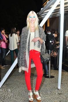 Model  Aline Weber at Fashion Rio