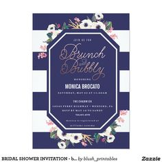 BRIDAL SHOWER INVITATION - brunch and bubbly champ