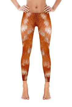 Deer Leggings - Deer fur Leggings - Deer Costume - Animal Leggings - Fur print leggings - Halloween costume
