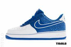 Nike Air Force 1 Low   Hyper Blue   White Elephant