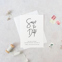 Save the date printable invite, save the date printables, save the date invitations pdf, modern script save the date digital invitation, DIY by JakbernCreative on Etsy