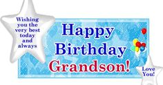 Angels Happy Birthday Grandson