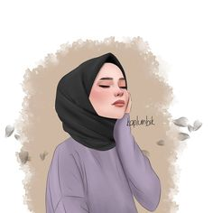 Cartoon Girl Drawing, Girl Cartoon, Cartoon Art, Cute Girl Wallpaper, Iphone Wallpaper Quotes Love, Wallpaper Art, Hijab Drawing, Islamic Cartoon, Girly M