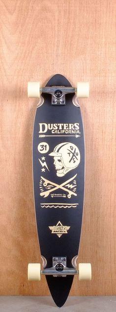 "Dusters Prebuilt 38"" Moto Black Longboard Complete"