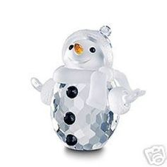 swarovski crystal figurines | Swarovski Crystal Figurine #250229, Snowman, Retired