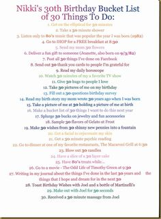 Birthday Bucket List 39 Things To Do Before I Turn 40