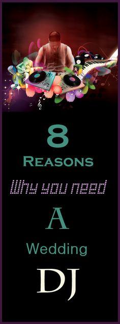 8 reasons why you need a wedding DJ www.blueskyatlanta.com #Atlanta #Weddings