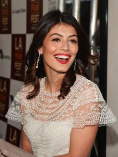 Actress Alessandra Mastronardi arrives at the 2012 Los Angeles Film Festival premiere of 'To Rome With Love' sponsored by Virgin America at Regal...