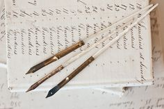 antique mother of pearl calligraphy pens...they don't make things like they used to!