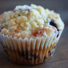 Brown butter blueberry muffins with crumble topping - the best blueberry muffin I've ever made.