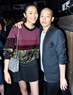 Liu Wen and Jason Wu