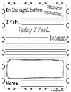 Fun First Day Activities for the First Day of First Grade!  Features 3 fun activities to start the first day of first grade off right!