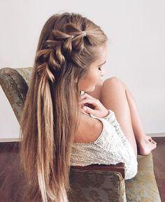 Hair Idea for Girls. Sneak peak of my project! My beautiful model, @josie_sanders showing off one of…