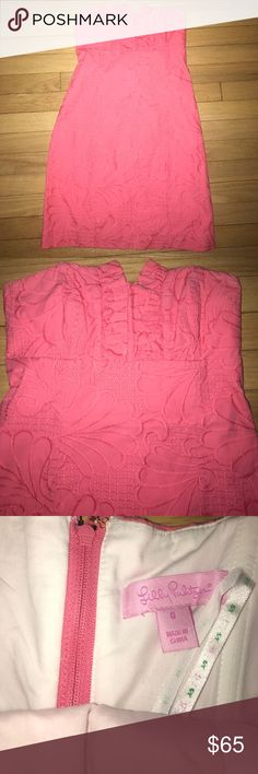 Lilly Pulitzer Strapless Dress Super cute coral Lilly dress!! worn once! Great condition! Lilly Pulitzer Dresses