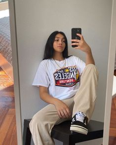 my spotify playlist is in the link. (tap the image) Skater Girl Outfits, Tomboy Outfits, Indie Outfits, Tomboy Fashion, Teen Fashion Outfits, Teenager Outfits, Cute Casual Outfits, Retro Outfits, Streetwear Fashion