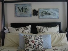 Amy Tried It: Mr & Mrs Bedroom Sign