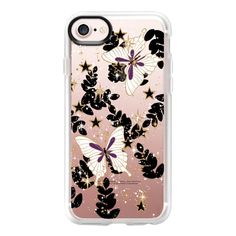 'the secret garden-butterflies&stars, transparent' by Lucia - iPhone 7... ($40) ❤ liked on Polyvore featuring accessories, tech accessories, iphone case, iphone cover case, transparent iphone case, clear iphone case, iphone cases and apple iphone case