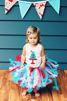 """Love this tutu - it looks like the basic """"tie a knot"""" tulle tutu with just tying bows at the end for added fluff! Clever."""