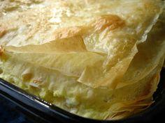 Plăcintă de Branza - Cheese Burek or Filled Phyllo Pie (Romania) - Sometimes used with apple filling