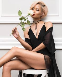 Micah Gianneli - Like a black widow 🕷 Choker by // Outfit from News Fashion, Fashion Models, Fashion Beauty, Women Legs, Sexy Women, Black Women, Sexy Outfits, Sexy Dresses, Micah Gianneli