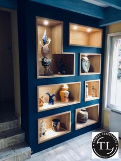 Schrankwand – Home Office Design Diy Home Office Shelves, Office Storage, Modern Bookshelf, Bookshelf Design, Storage Area, Bedroom Storage, Home Interior Design, Interior Office, Interior Decorating