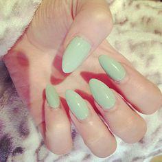 #mint #stiletto #nail #polish #nails #manicure #beauty