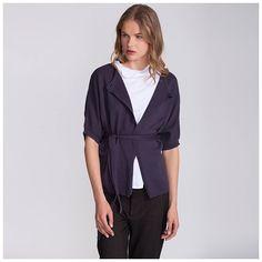 Knitted kimono cardigan, purple